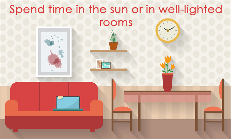 Society Story: Spend time in the sun or in well-lighted rooms