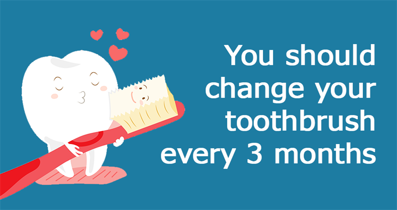 Science Story: You should change your toothbrush every 3 months or more often