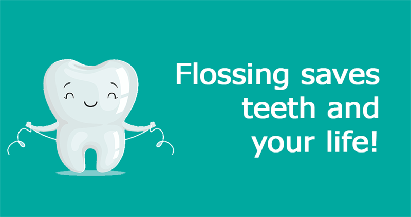 Science Story: Flossing saves teeth and your life!