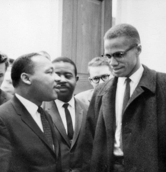 History Story: #2 Martin Luther King, Jr. and Malcolm X meet before a press conference (1964)