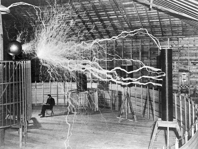 History Story: #3 Nikola Tesla in his laboratory (1899)