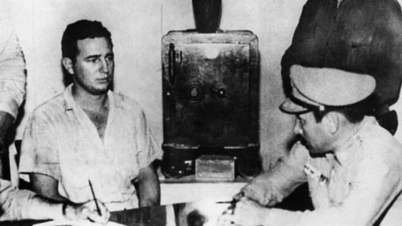 History Story: #4 Fidel Castro under arrest after the Moncada attack (1953)