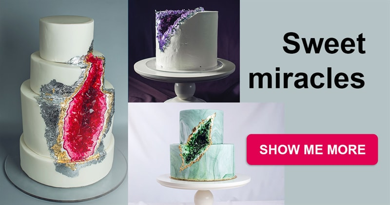 food Story: Sweet miracles - geode made of sugar will definitely amaze you