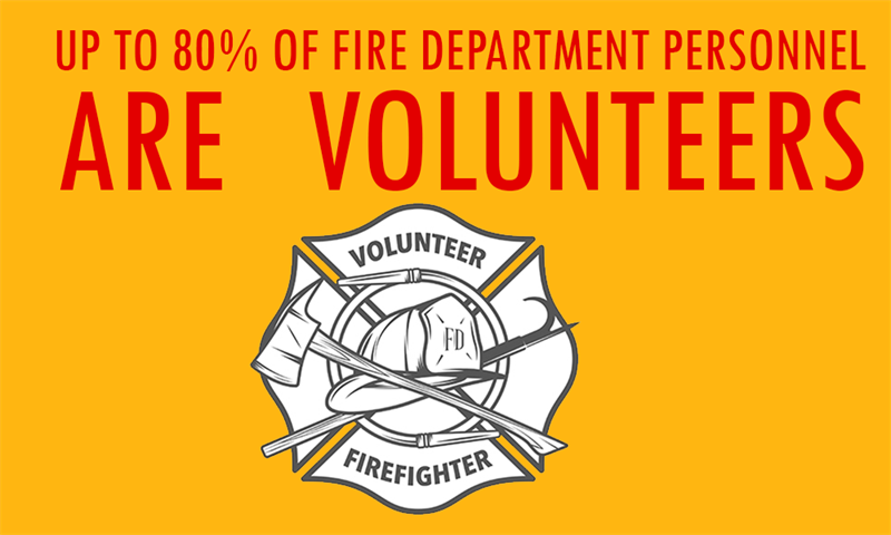 Society Story: Up to 80% of fire department personnel are volunteers