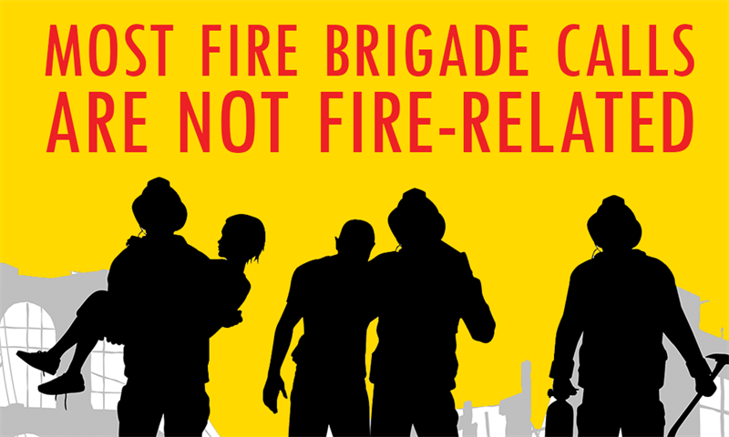 Society Story: Most fire brigade calls are not fire-related