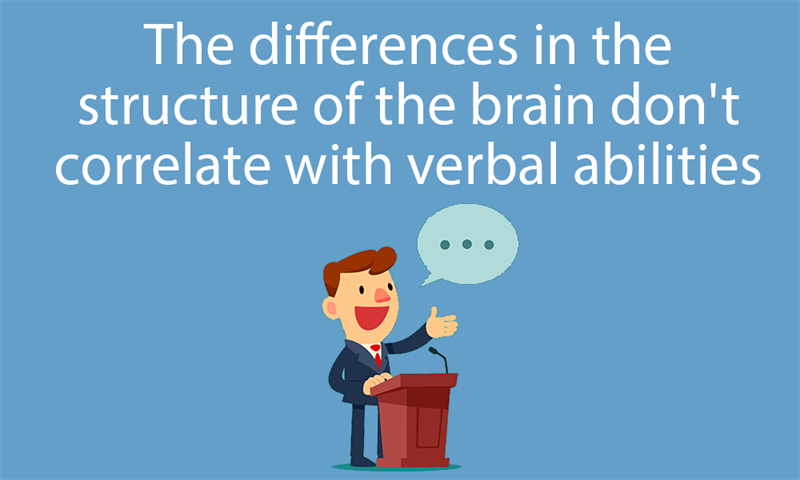 Science Story: The differences in the structure of the brain don't correlate with verbal abilities