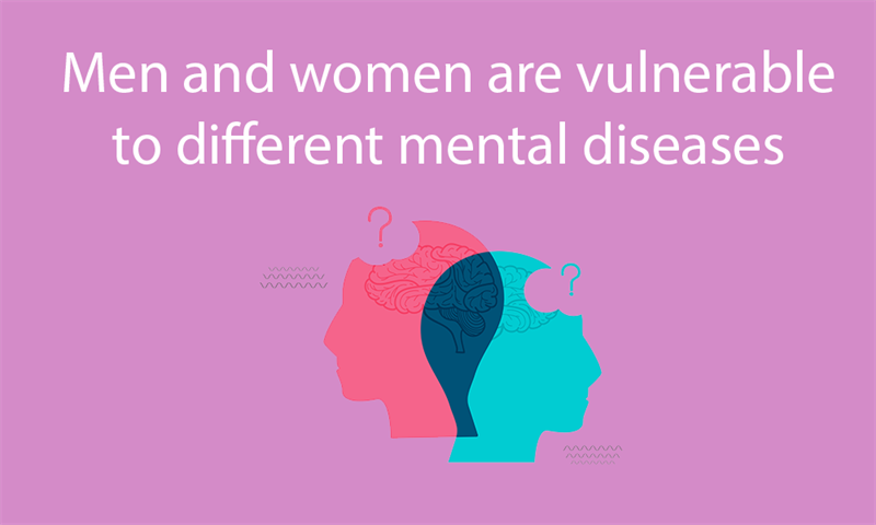 Science Story: Men and women are vulnerable to different mental diseases