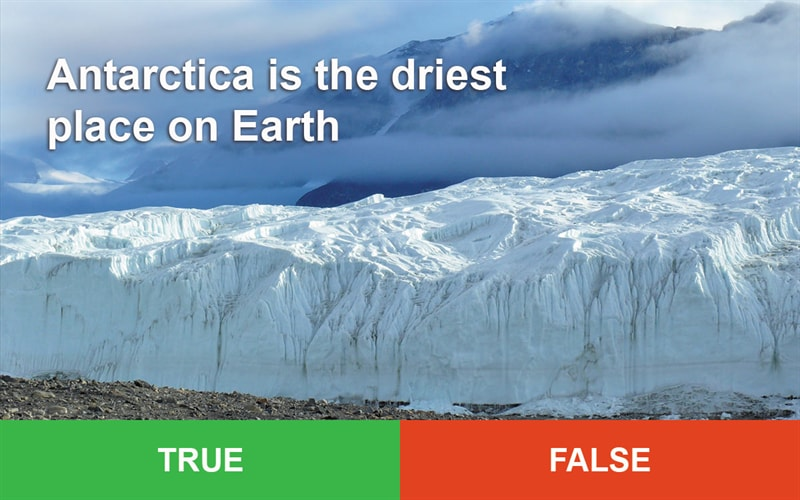 IQ Story: #1 Antarctica is the driest place on Earth