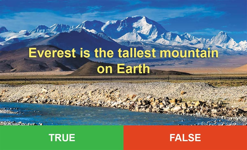 IQ Story: #2 Everest is the tallest mountain on Earth