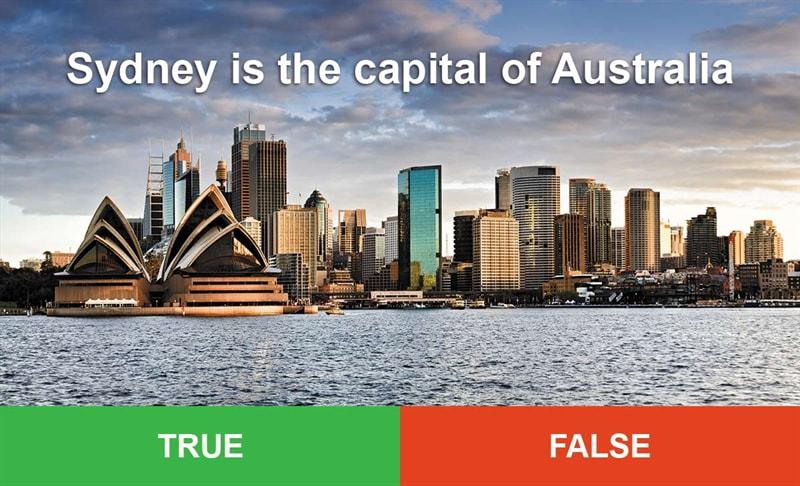 IQ Story: #3 Sydney is the capital of Australia