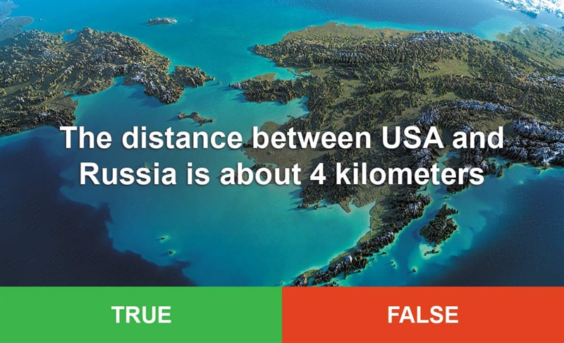 IQ Story: #4 The distance between USA and Russia is about 4 kilometers