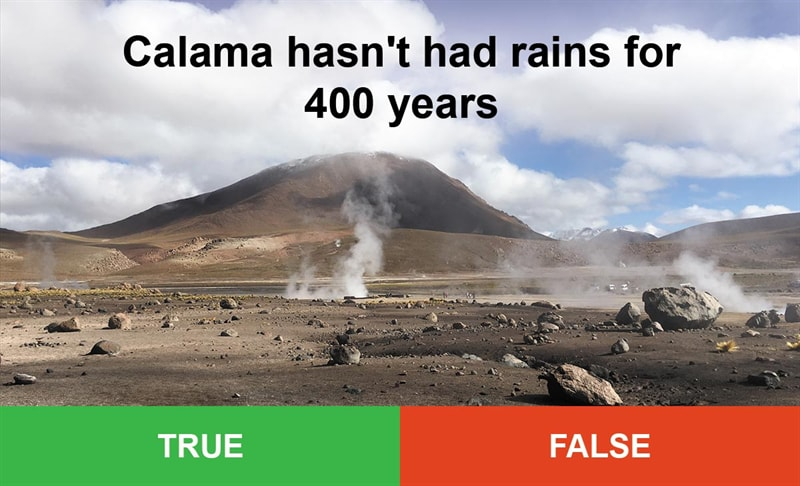 IQ Story: #7 Calama hasn't had rains for 400 years