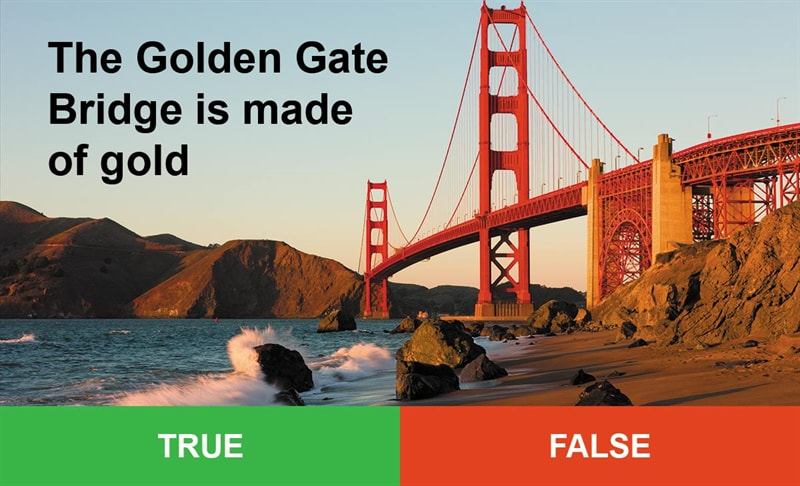 IQ Story: #8 The golden Gate bridge is made of gold