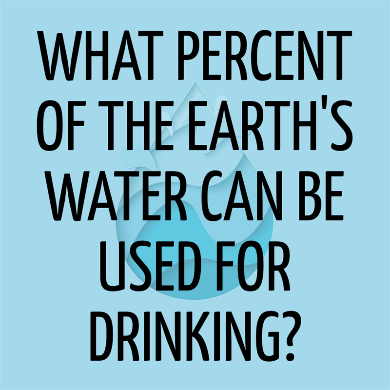 Science Story: What percent of the Earth's water can be used for drinking?