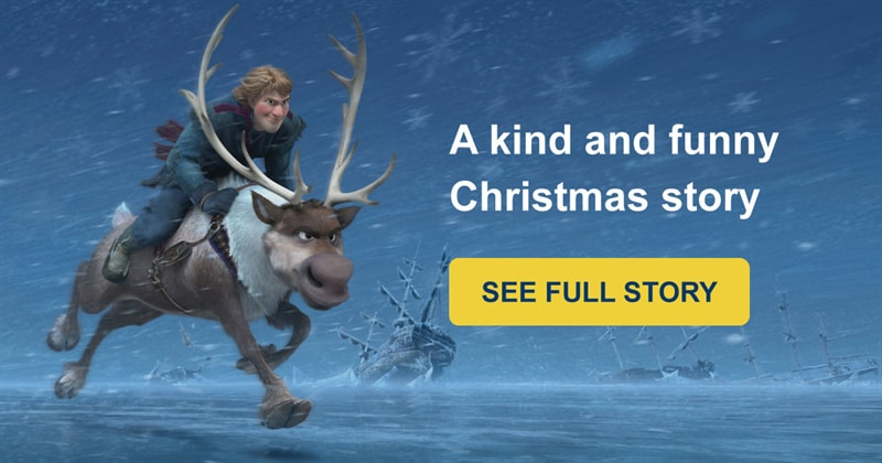 funny Story: Frozen: a kind and funny story about Olaf and Sven will warm you this winter