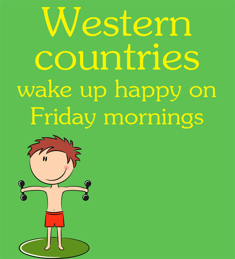 Society Story: The users from the Western world are the happiest at the end of the week: