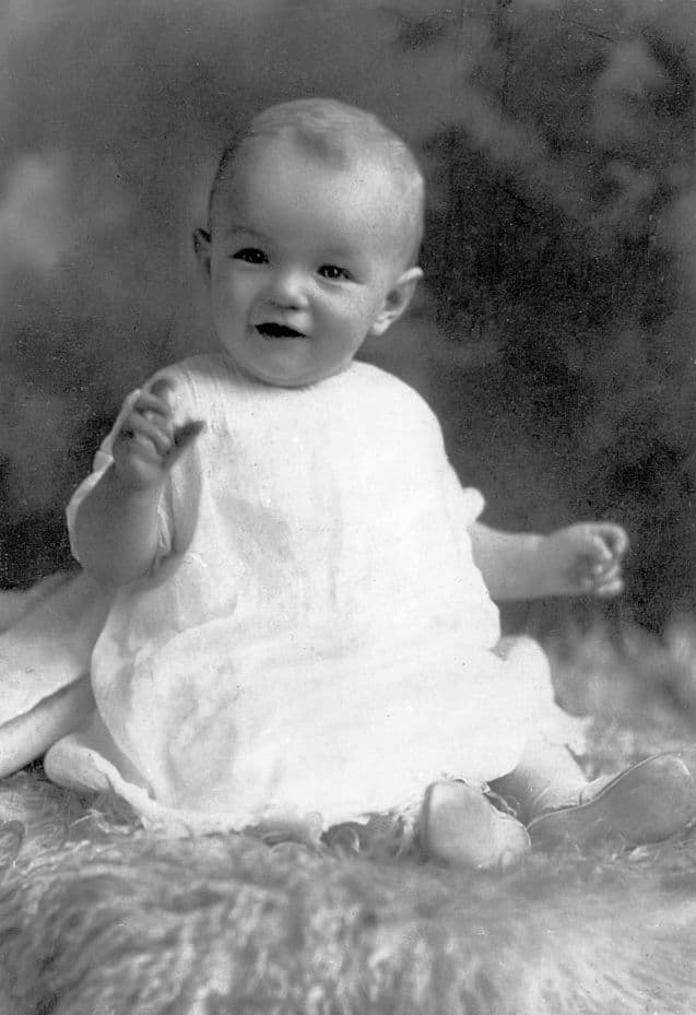 History Story: #7 Marilyn Monroe as an infant baby (1953)