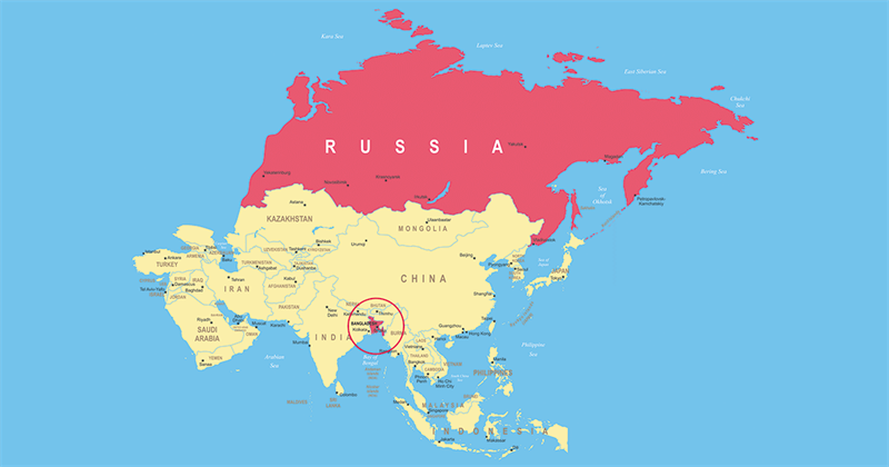 Geography Story: #1 In Bangladesh live more people than in Russia