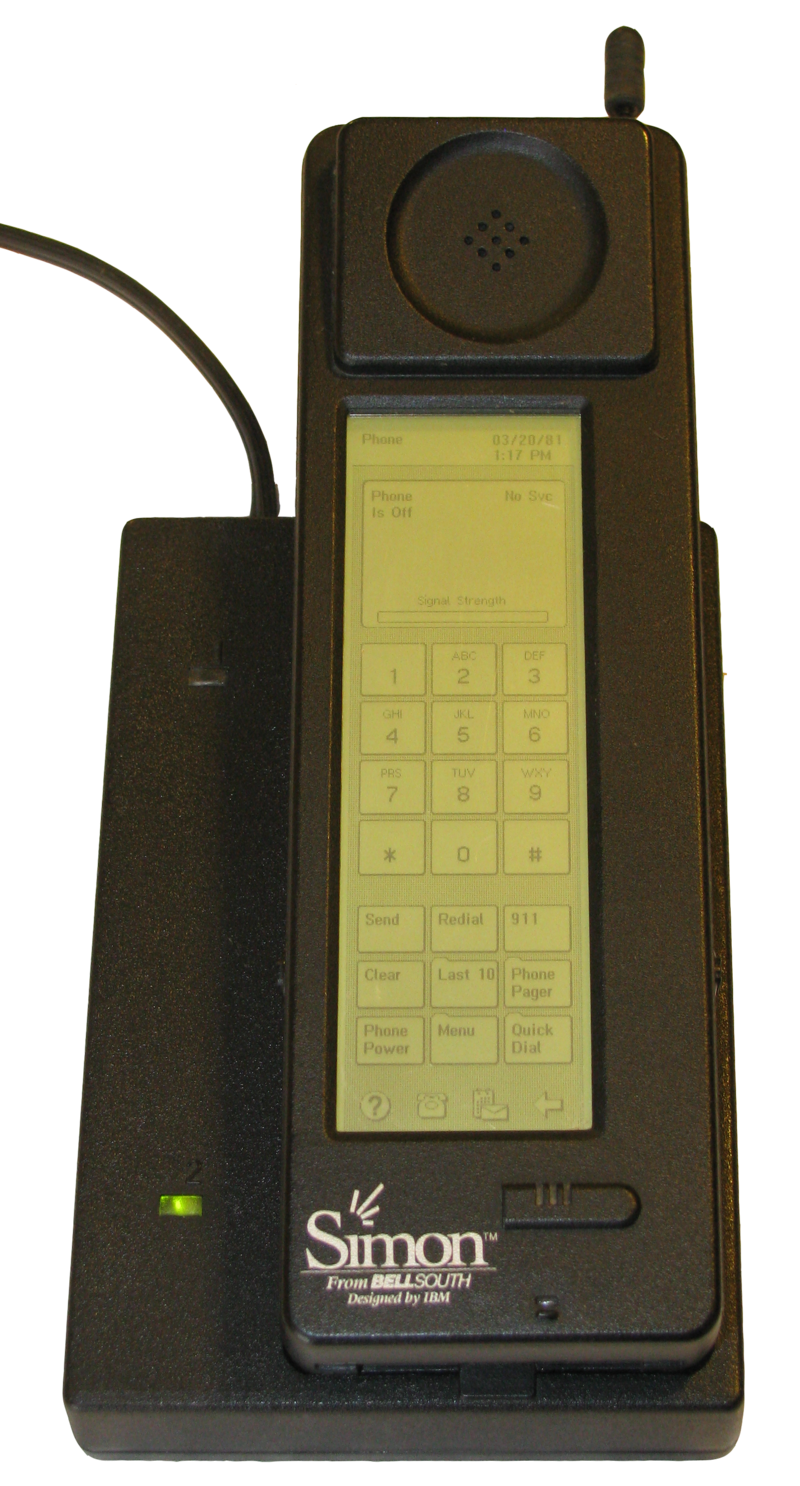 Science Story: #10 IBM Simon, the first smartphone presented in 1992. Except for telephone calls, the device could receive emails and cellular pages.