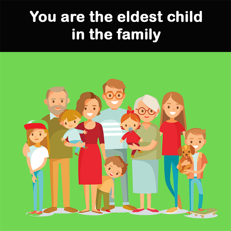 Science Story: You are the eldest child in the family