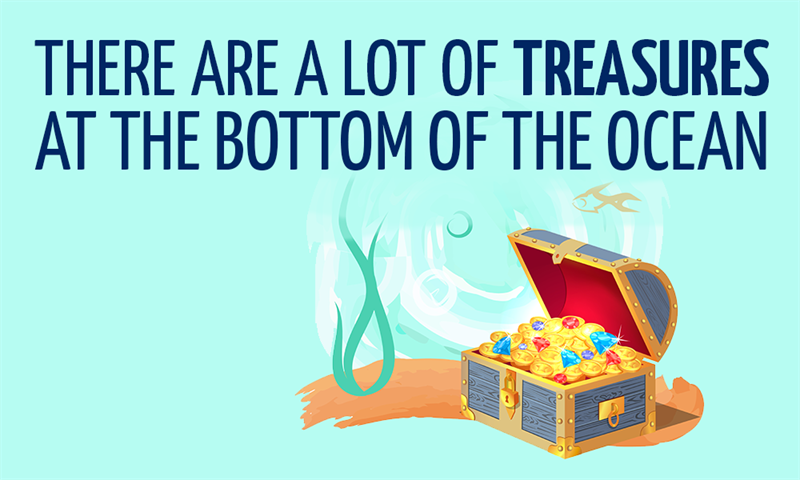 History Story: There are a lot of treasures at the bottom of the ocean