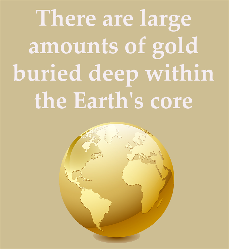 Science Story: There are large amounts of gold buried deep within the Earth's core