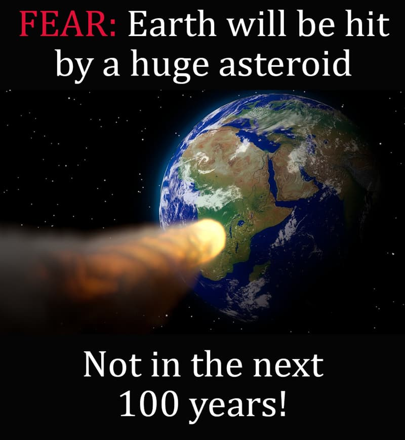 Science Story: Earth will be hit by a huge asteroid - not in the next 100 years