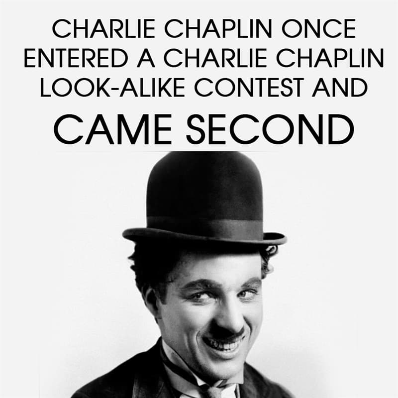 History Story: Charlie Chaplin once entered a Charlie Chaplin look-alike contest and came second