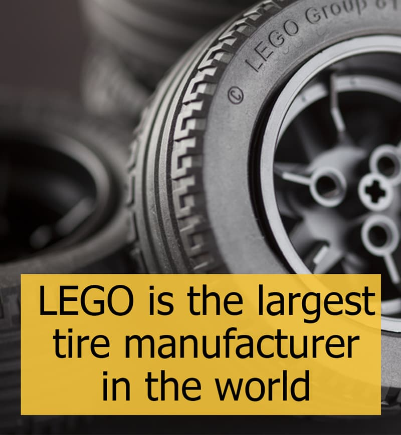 Culture Story: LEGO is the largest tire manufacturer in the world