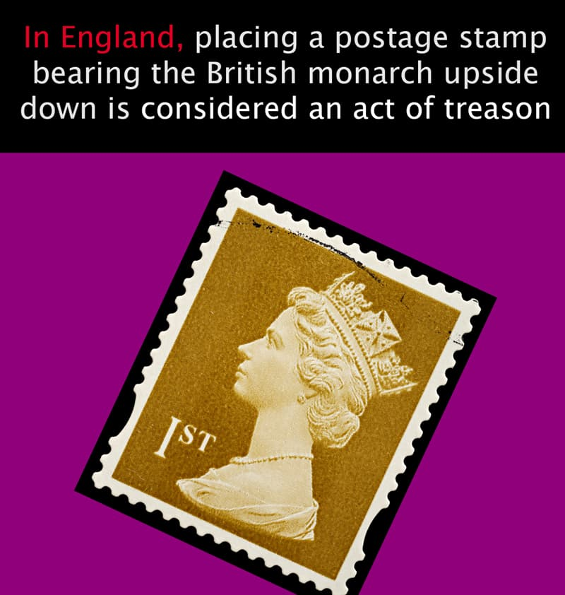 Geography Story: In England, placing a postage stamp bearing the British monarch upside down is considered an act of treason