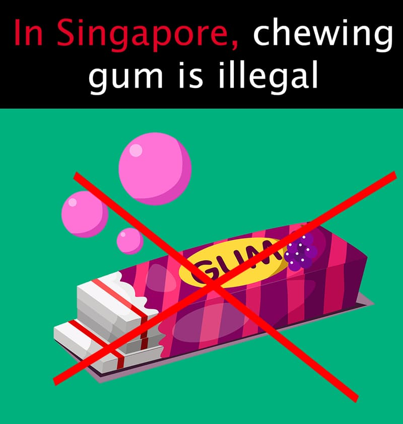 Geography Story: In Singapore, chewing gum is illegal