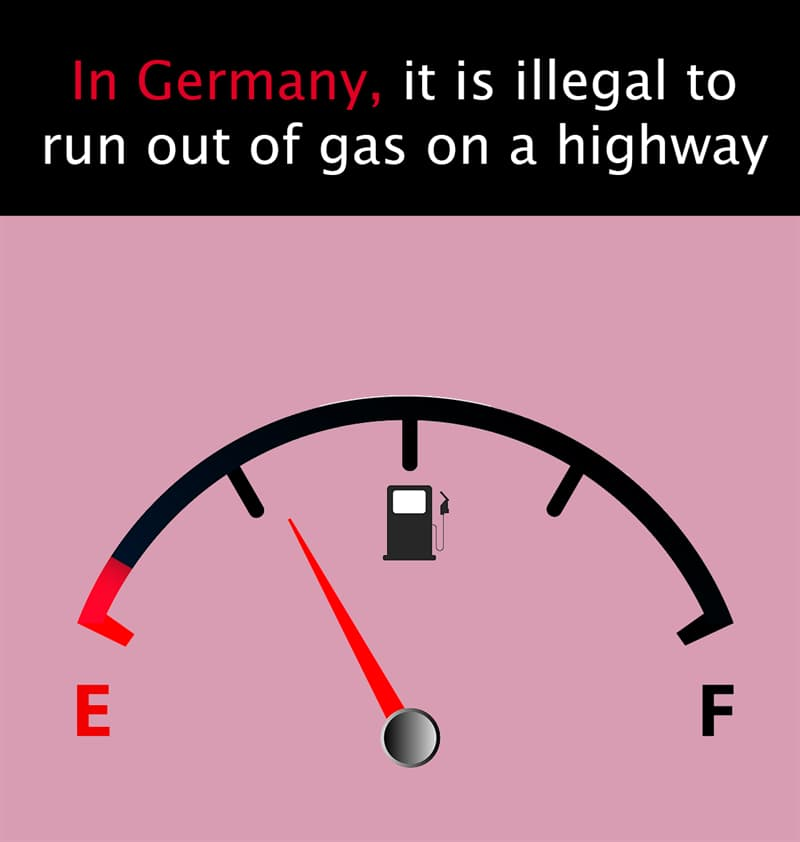 Geography Story: In Germany, it is illegal to run out of gas on a highway