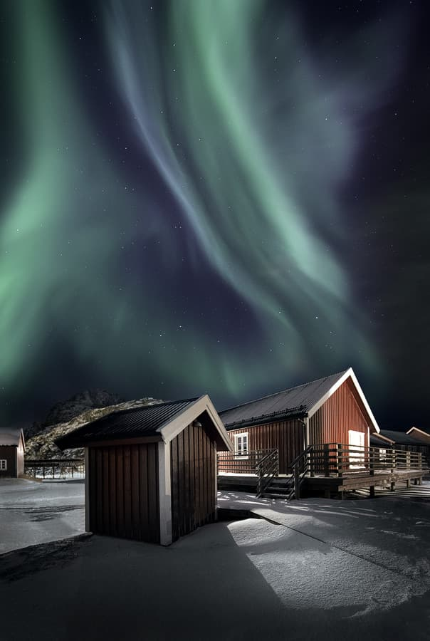 Geography Story: #1 Aurora over the Rorbuer