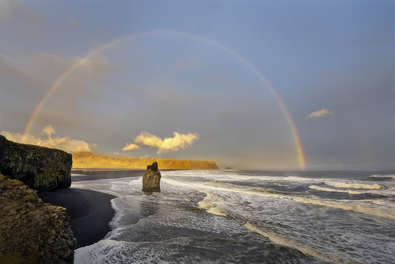 Geography Story: #15 Black beach rainbow