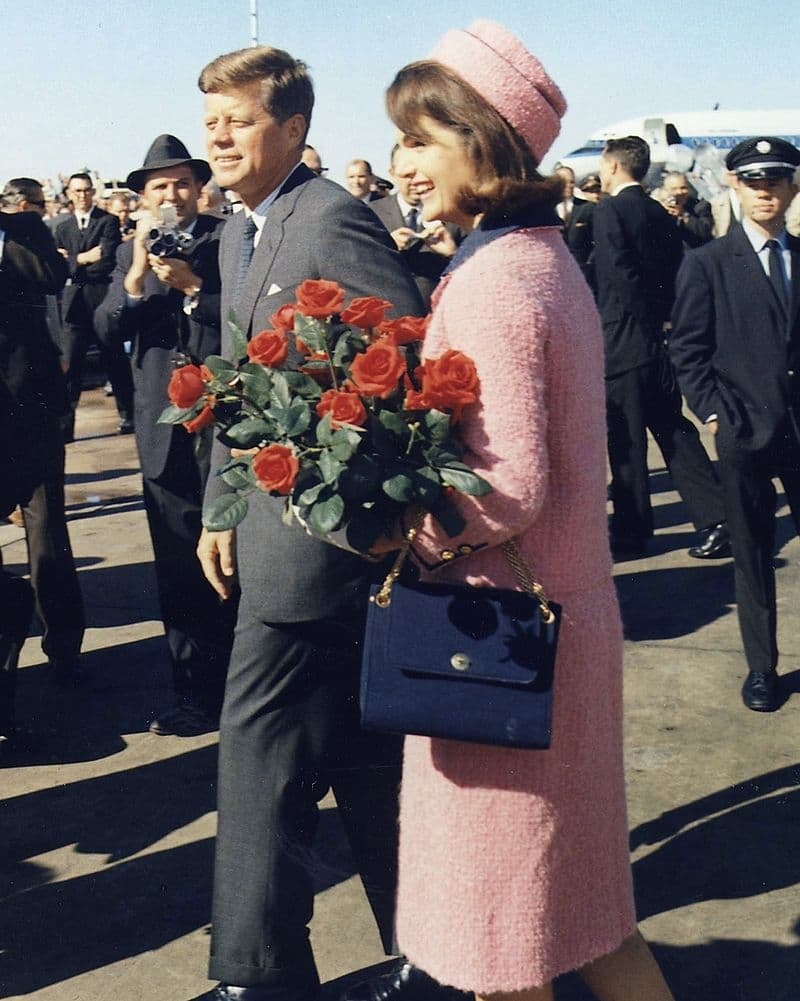 History Story: #7: Her pink suite became one of the most famous pieces of clothing in history