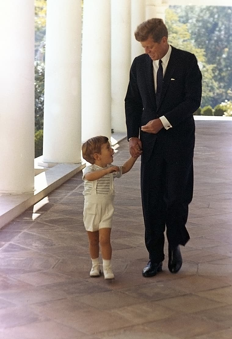 History Story: #10 John F. Kennedy and John F. Kennedy, Jr. at the White House