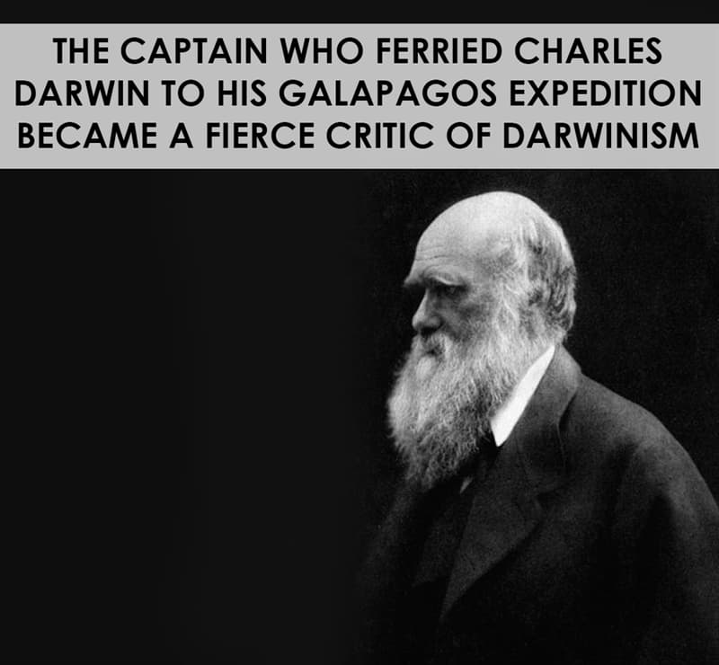 History Story: The captain who ferried Charles Darwin to his Galapagos expedition became a fierce critic of Darwinism