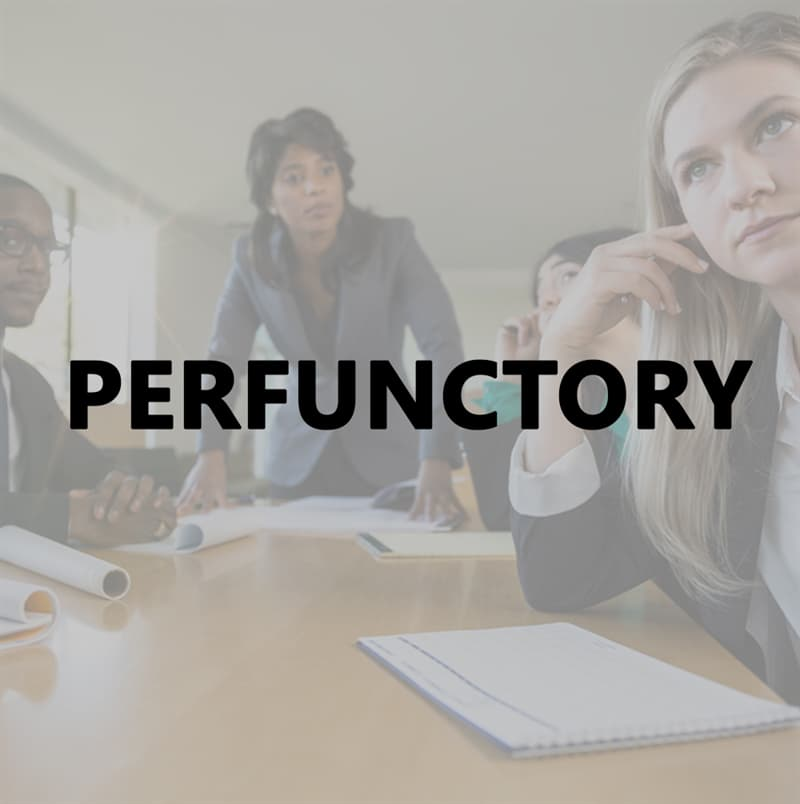 Culture Story: Perfunctory