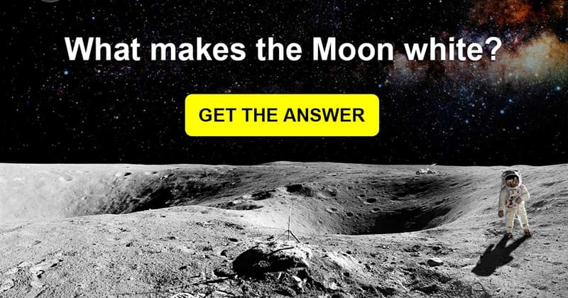 Science Story: Why is the moon white?