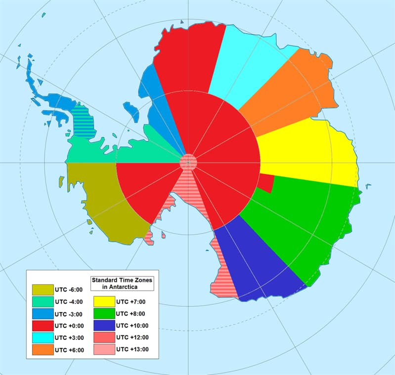 Geography Story: #8 Time zones in Antarctica:
