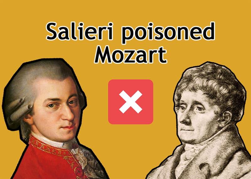 History Story: Salieri poisoned Mozart - FALSE