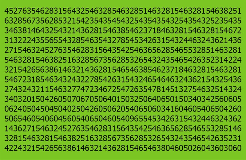 Science Story: Find 9 among these numbers: