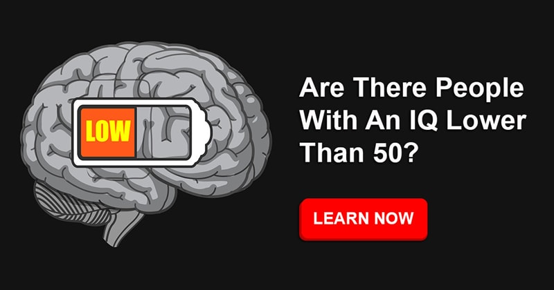 History Story: Is it possible to have an IQ score of less than 50?