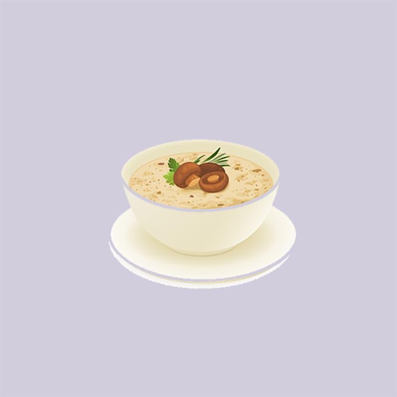 Society Story: #4 Creamy mushroom soup: nature-loving, hard-working, reliable