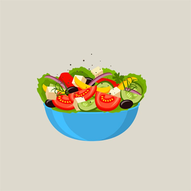 Society Story: #6 Vegetable salad: calm, patient, intelligent