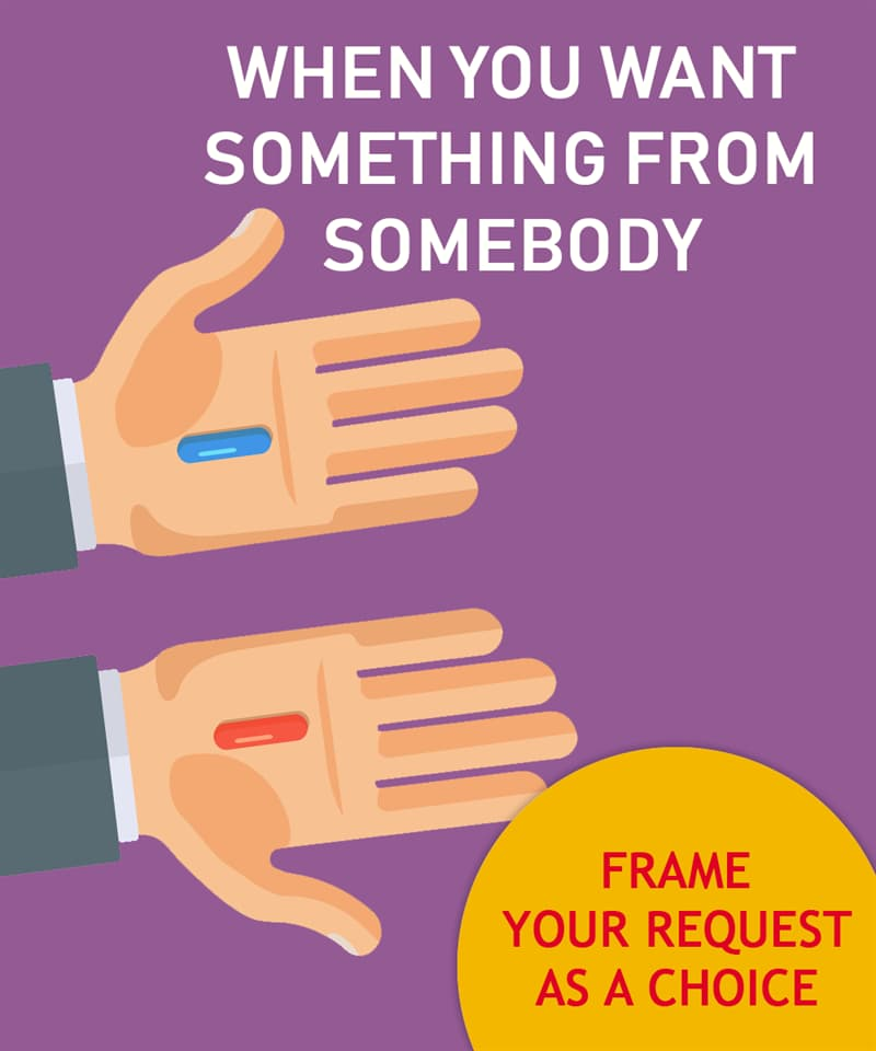 Society Story: When you want something from somebody, frame your request as a choice