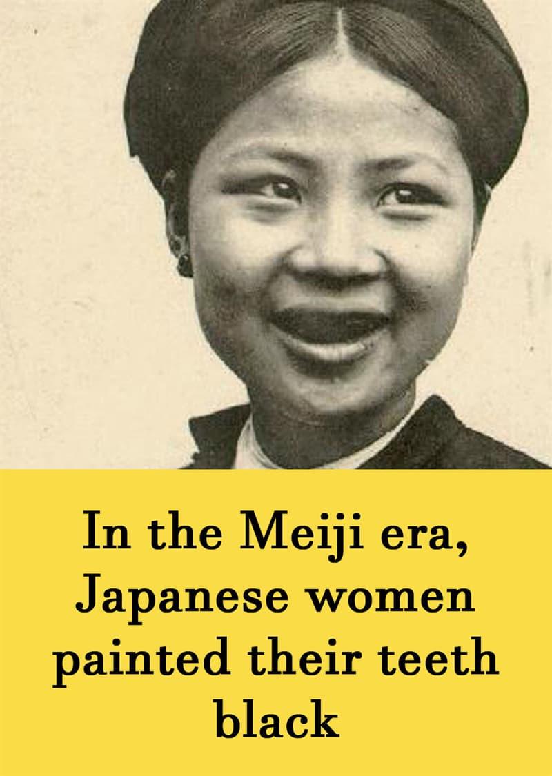 Culture Story: In the Meiji era, Japanese women painted their teeth black