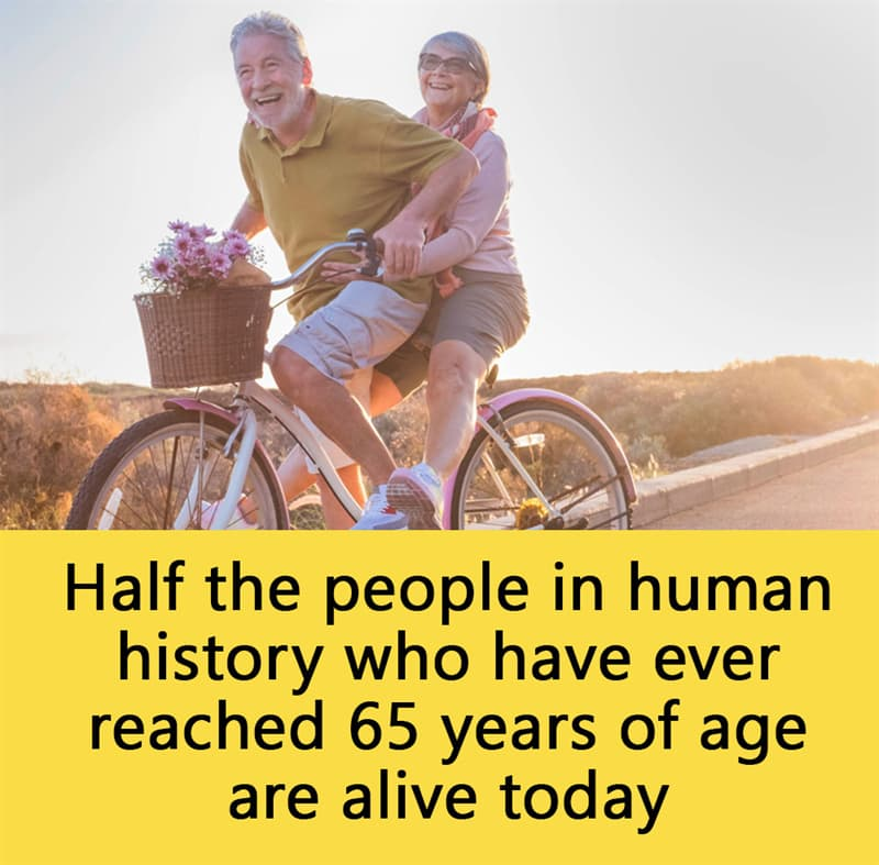 Science Story: Half the people in human history who have ever reached 65 years of age are alive today.
