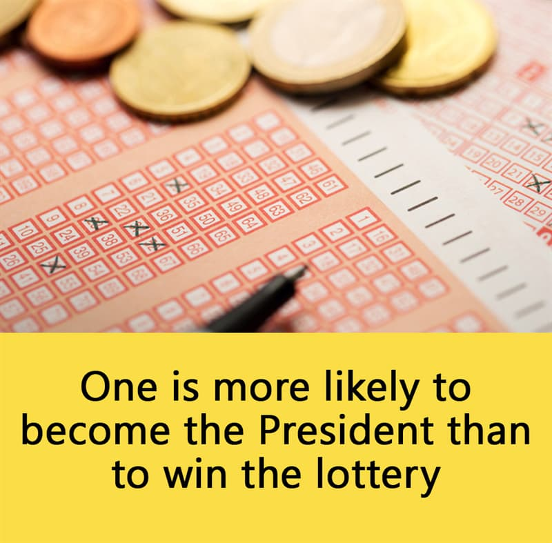 Science Story: One is more likely to become the President than to win the lottery.
