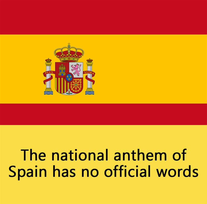 Science Story: The national anthem of Spain has no official words.